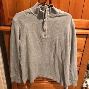 Mens gray 1/4 zip Timberland shirt sweatshirt Sz
